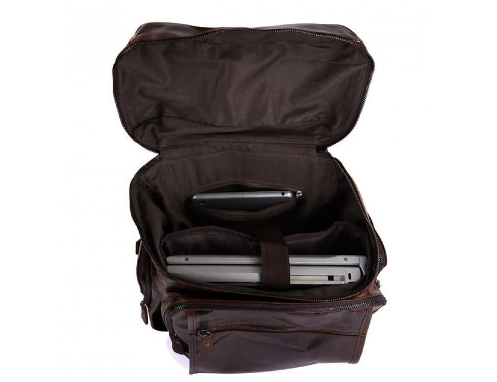Мужской кожаный рюкзак TIDING BAG 7202C - Фото № 3