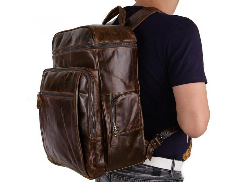 Мужской кожаный рюкзак TIDING BAG 7202C - Фото № 2