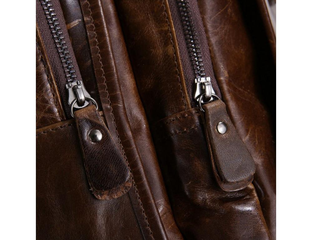 Мужской кожаный рюкзак TIDING BAG 7202C - Фото № 5