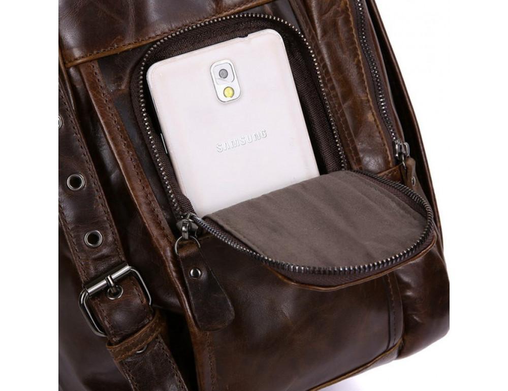 Мужской кожаный рюкзак TIDING BAG 7202C - Фото № 6
