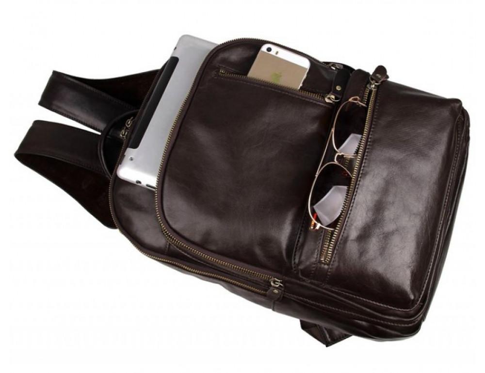 Чоловічий шкіряний рюкзак TIDING BAG 7313Q - Фотографія № 4