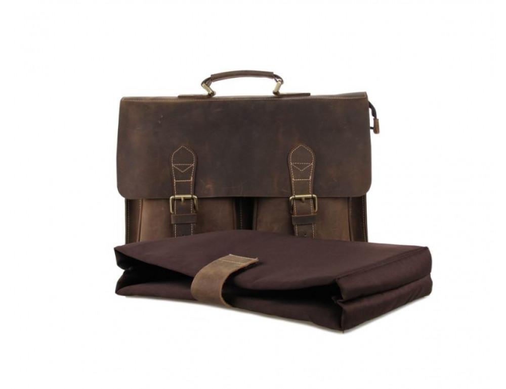Мужской кожаный портфель TIDING BAG 7105B - Фото № 3