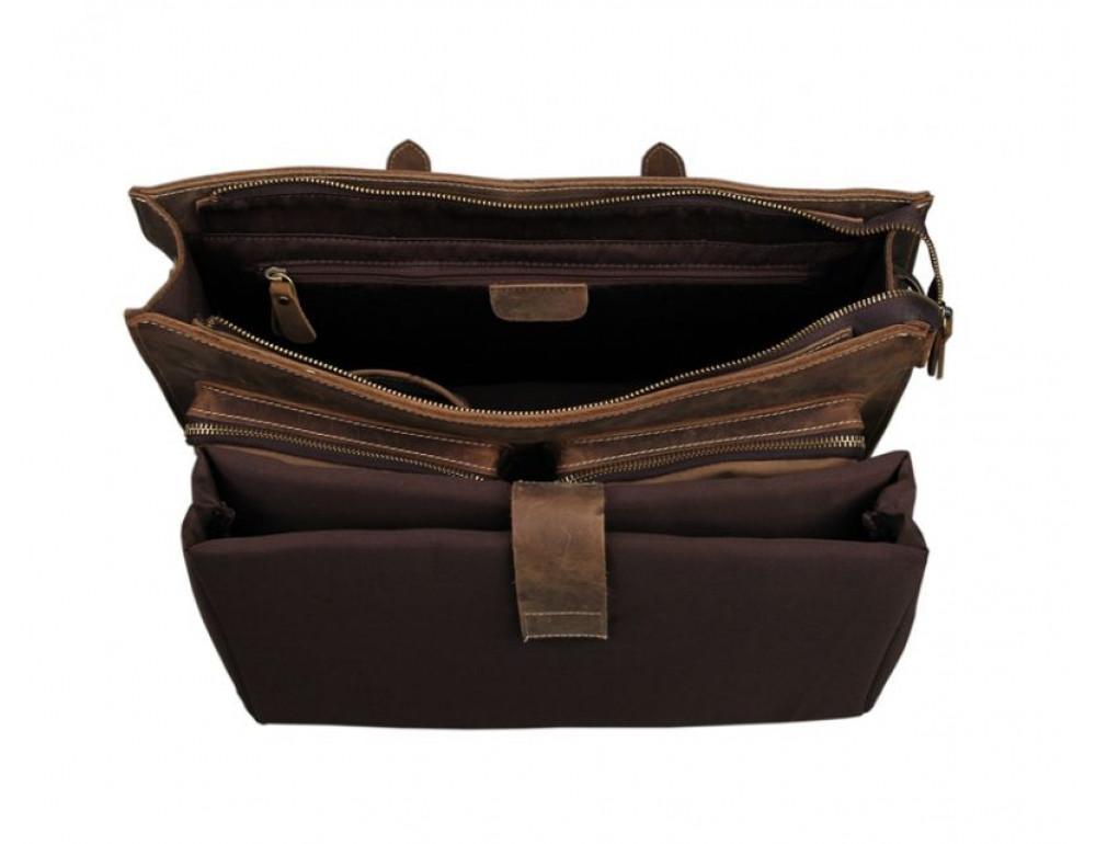 Мужской кожаный портфель TIDING BAG 7105B - Фото № 4