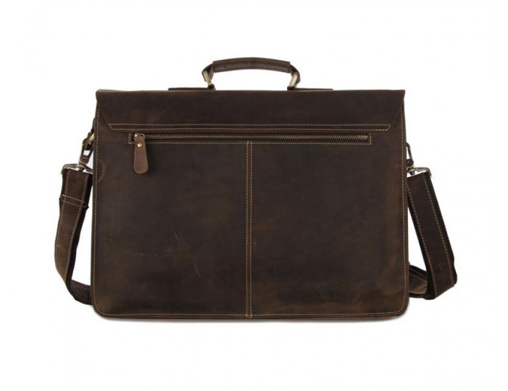 Мужской кожаный портфель TIDING BAG 7105B - Фото № 2