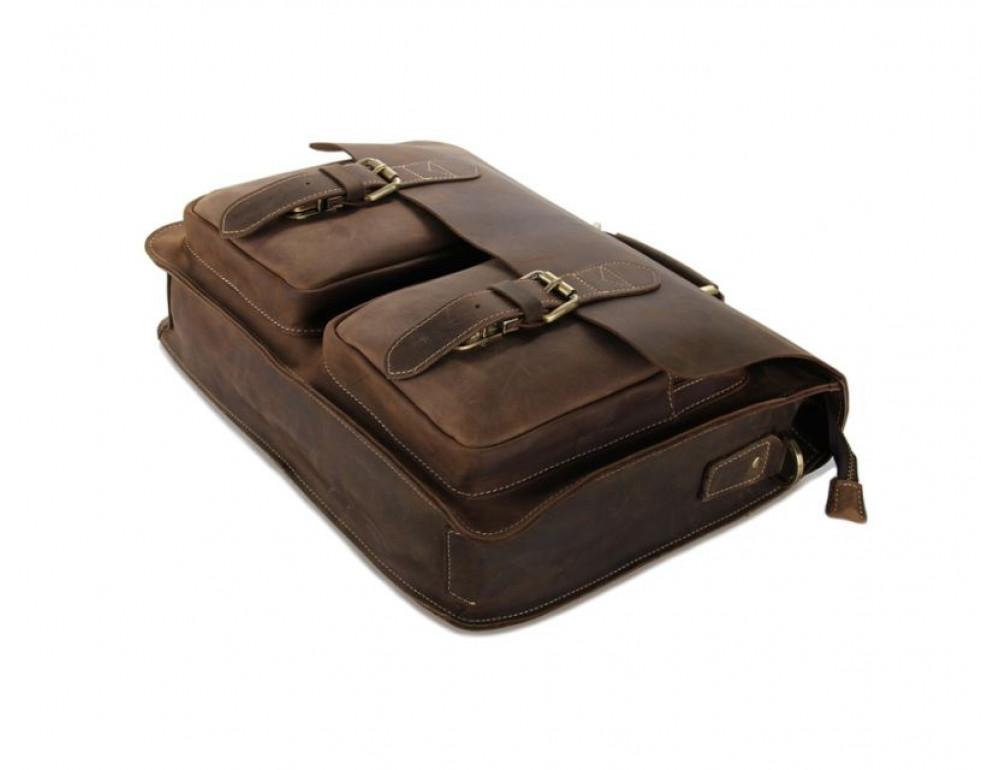Мужской кожаный портфель TIDING BAG 7105B - Фото № 5