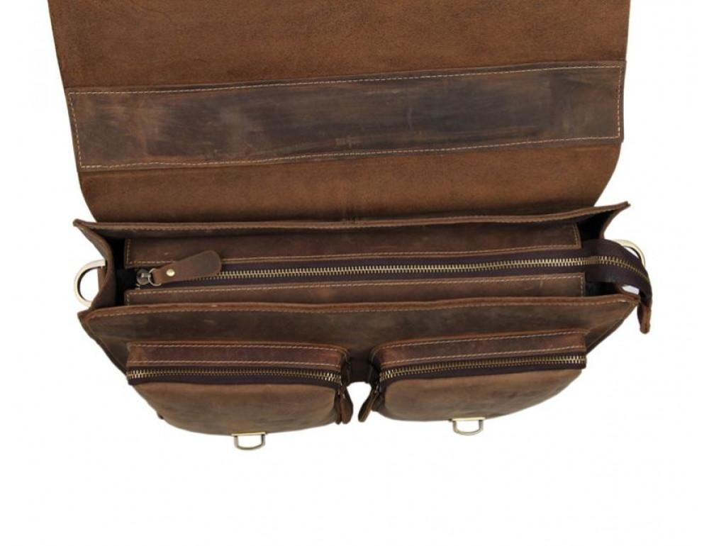 Мужской кожаный портфель TIDING BAG 7105B - Фото № 6