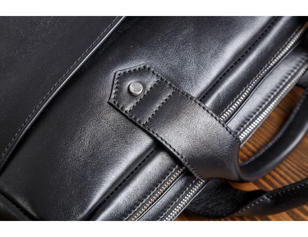 Кожаная мужская сумка черного цвета Blamont Bn012A - Фото № 10