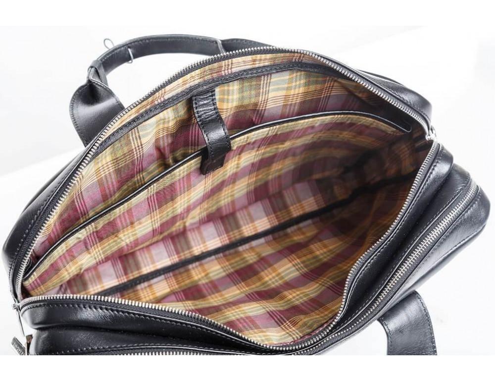 Кожаная мужская сумка черного цвета Blamont Bn012A - Фото № 12
