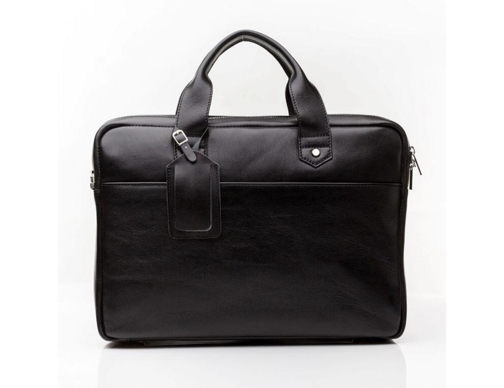 Кожаная мужская сумка черного цвета Blamont Bn012A - Фото № 13