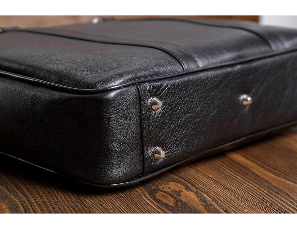 Мужская кожаная сумка черного цвета Blamont Bn022A - Фото № 8