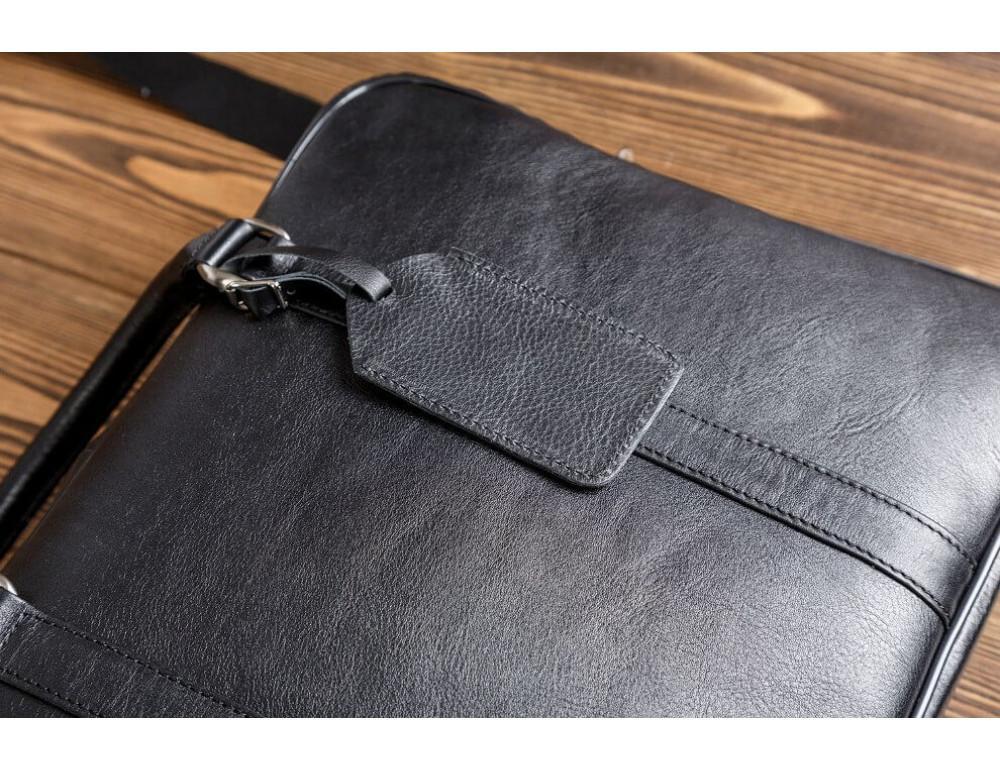 Мужская кожаная сумка черного цвета Blamont Bn022A - Фото № 7