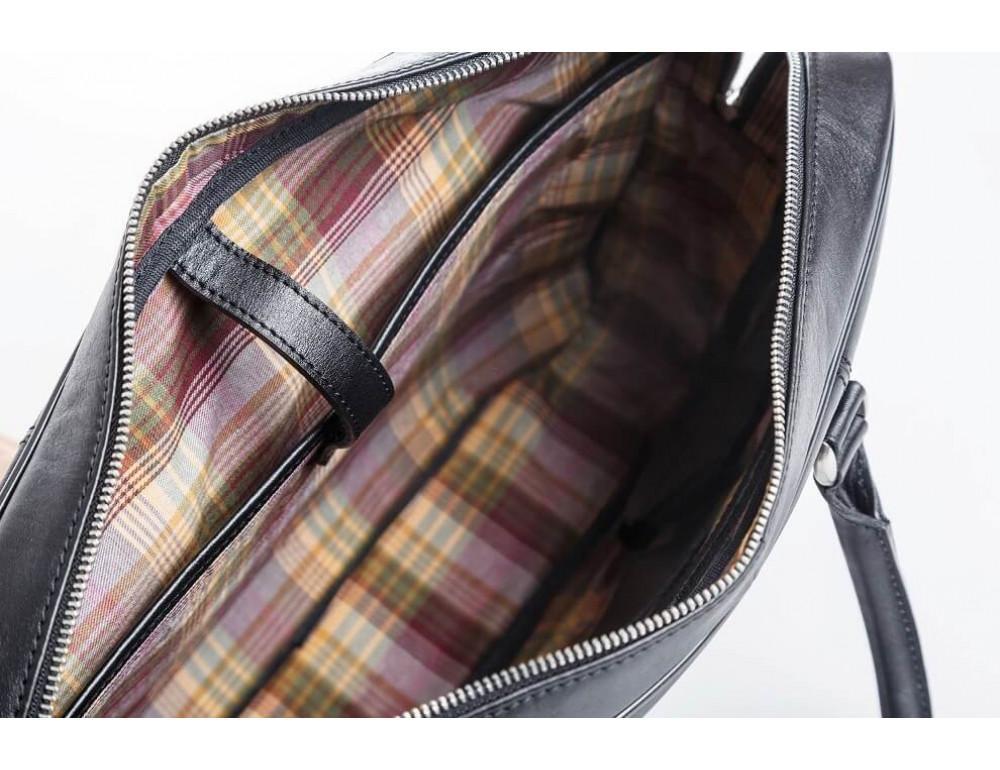 Мужская кожаная сумка черного цвета Blamont Bn022A - Фото № 5
