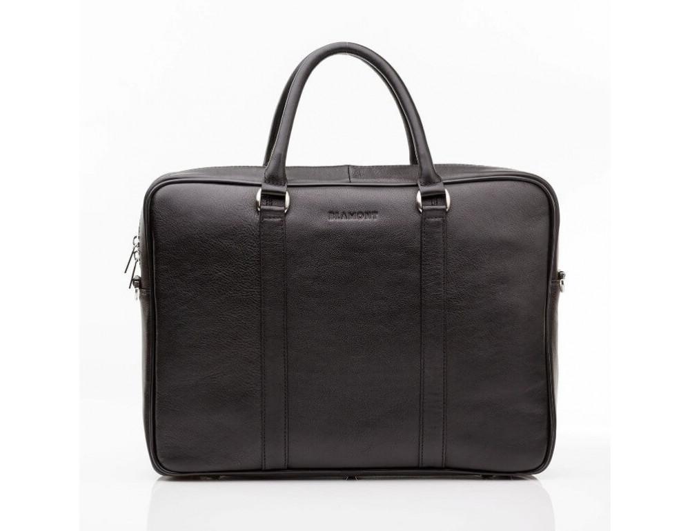 Мужская кожаная сумка черного цвета Blamont Bn022A