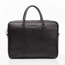 Чоловіча шкіряна сумка чорного кольору Blamont Bn022A
