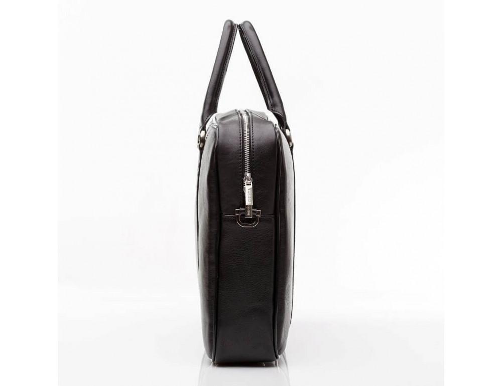 Мужская кожаная сумка черного цвета Blamont Bn022A - Фото № 3