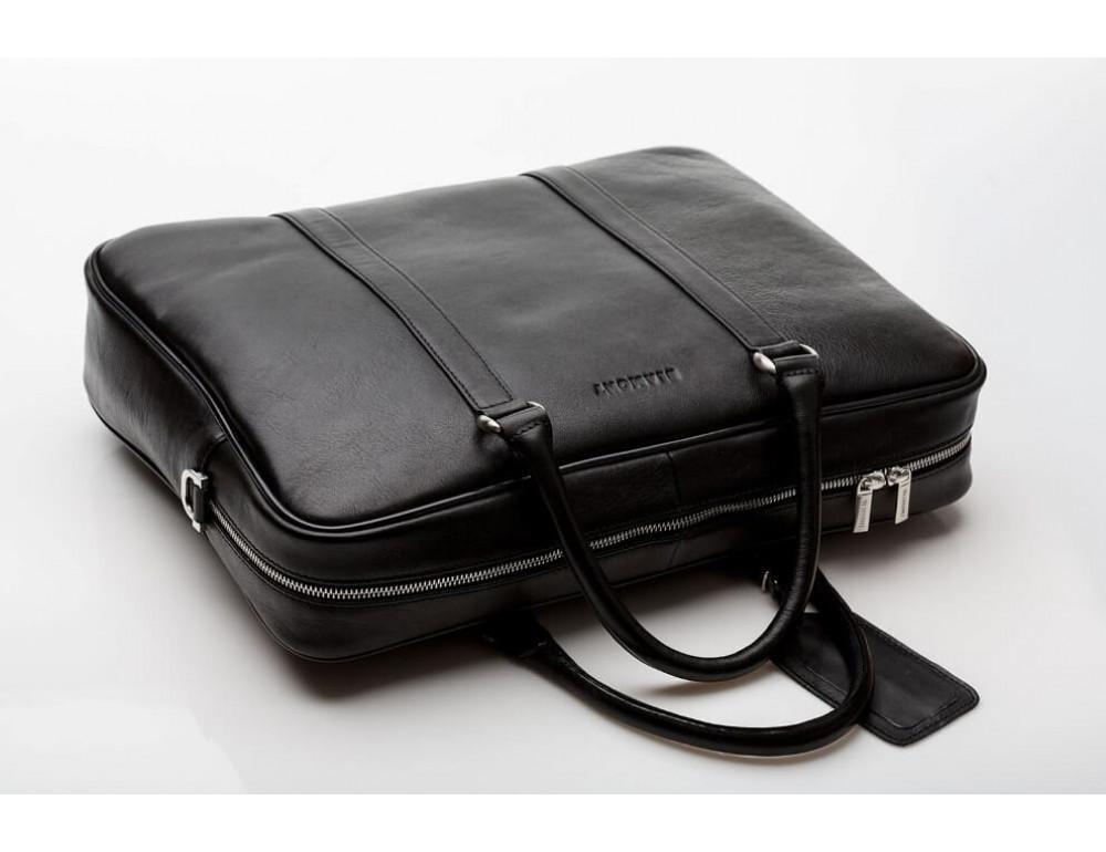 Мужская кожаная сумка черного цвета Blamont Bn022A - Фото № 4