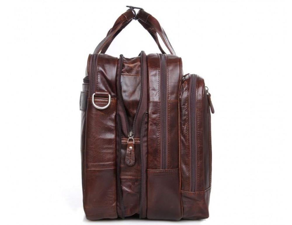 Мужская кожаная сумка TIDING BAG 7343C - Фото № 4