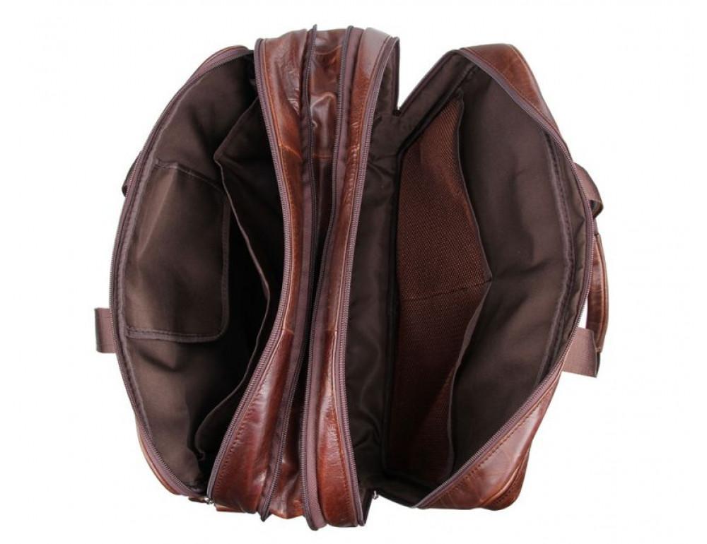 Мужская кожаная сумка TIDING BAG 7343C - Фото № 6