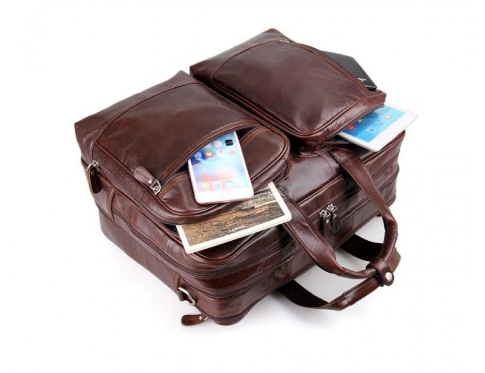 Мужская кожаная сумка TIDING BAG 7343C - Фото № 8