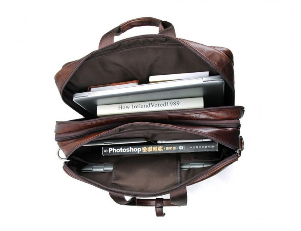 Мужская кожаная сумка TIDING BAG 7343C - Фото № 9