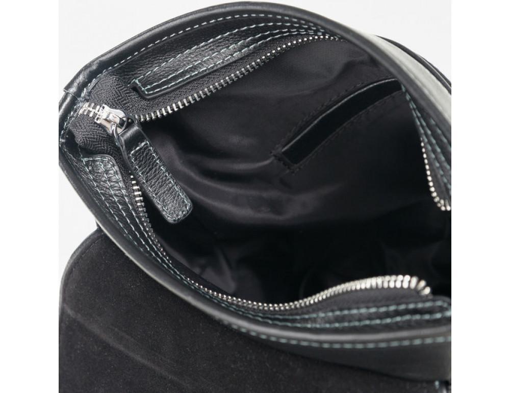 Чёрная сумка через плечо кожаная TIDING BAG M685-2A - Фото № 4