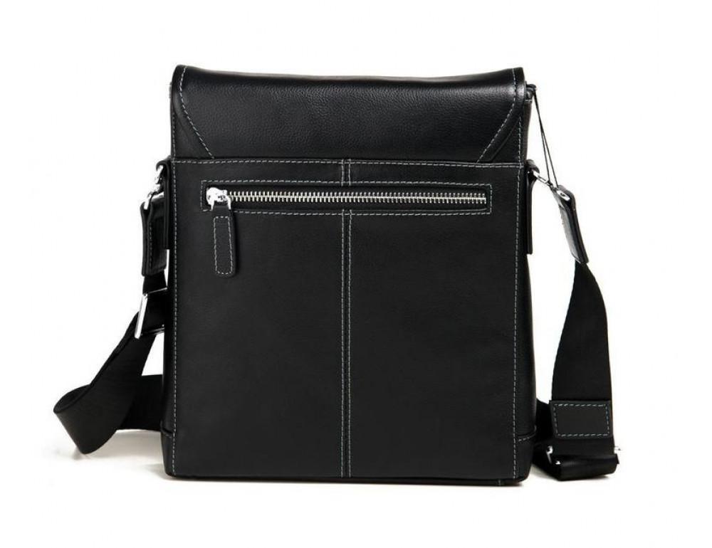 Чёрная сумка через плечо кожаная TIDING BAG M685-2A - Фото № 5