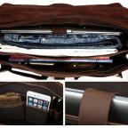 Мужской кожаный портфель TIDING BAG T10315 темно-коричневый - Фото № 101