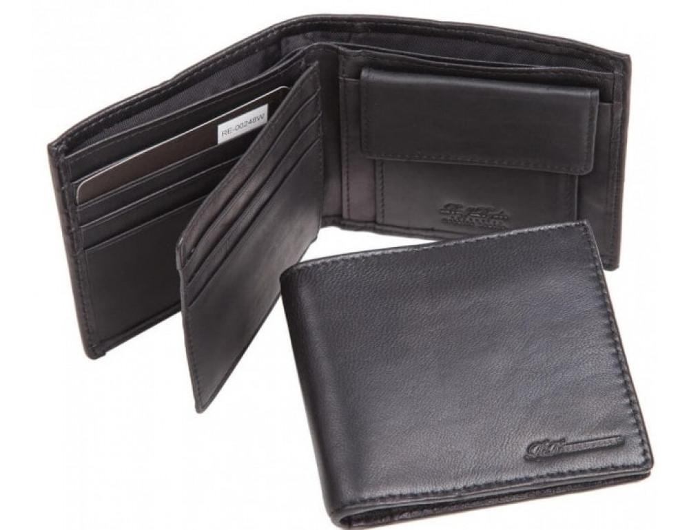 Кожаный портмоне Ruff Ryder RE-00248W чёрный - Фото № 1