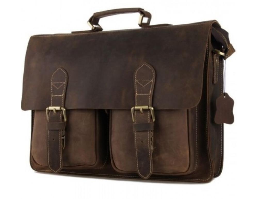 Мужской кожаный портфель TIDING BAG 7105B - Фото № 1