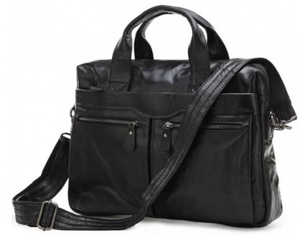 Кожаная сумка для ноутбука JASPER & MAINE 7122A