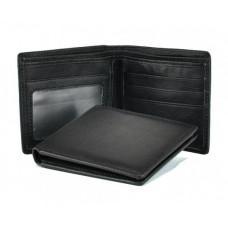 Шкіряний гаманець Tiding Bag A7-622A чорний