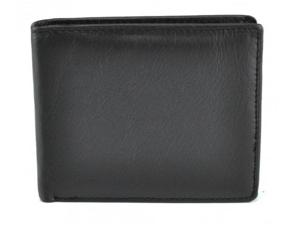 Кожаный кошелёк Tiding Bag A7-622A чёрный - Фото № 2