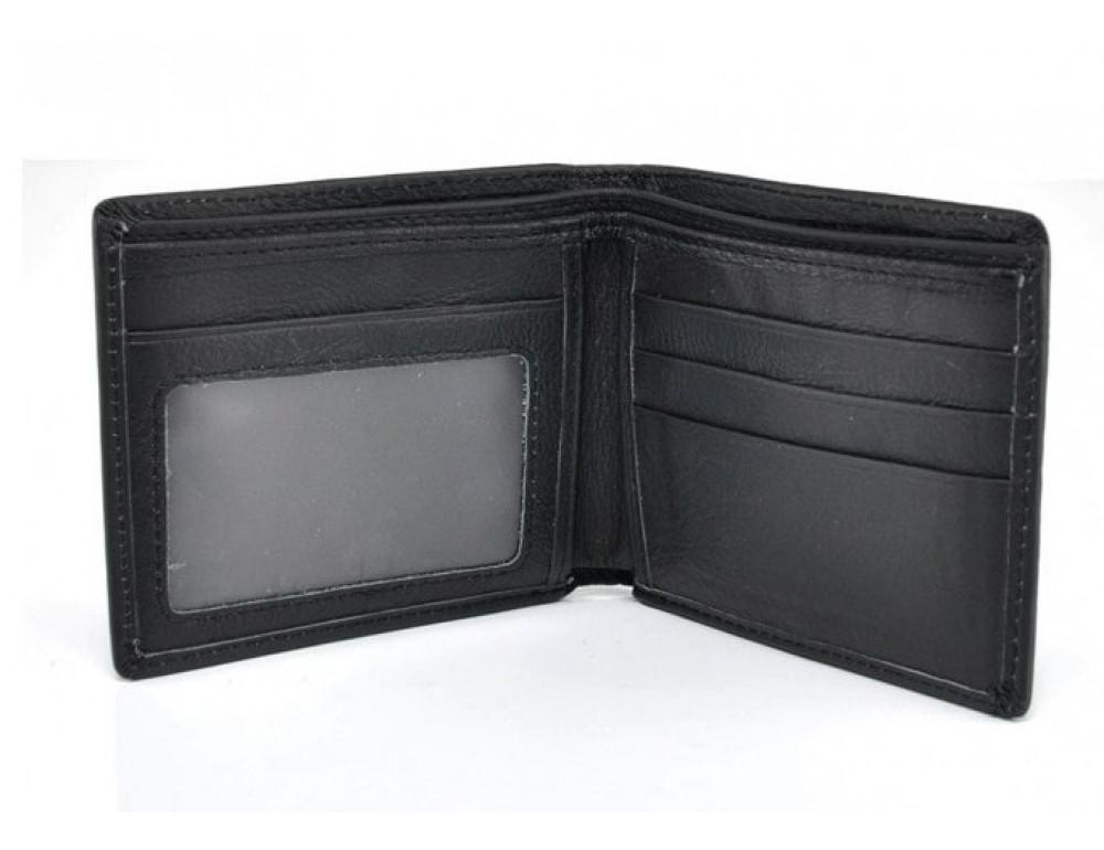 Кожаный кошелёк Tiding Bag A7-622A чёрный - Фото № 3