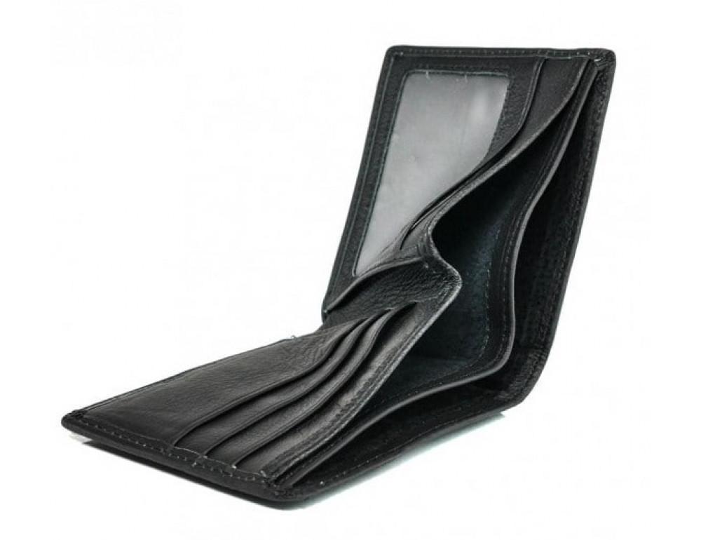 Кожаный кошелёк Tiding Bag A7-622A чёрный - Фото № 4