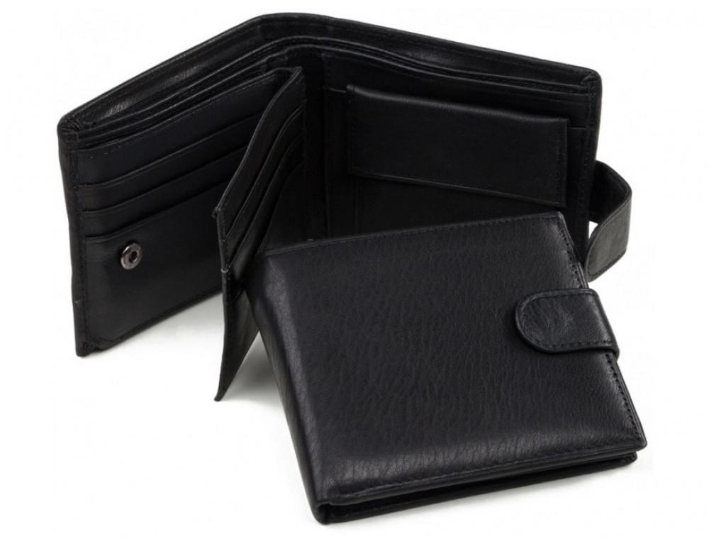 Шкіряний портмоне Tiding Bag A7-638A чорний