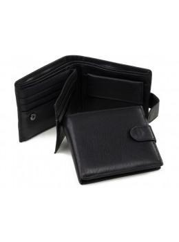 Кожаный портмоне Tiding Bag A7-638A чёрный