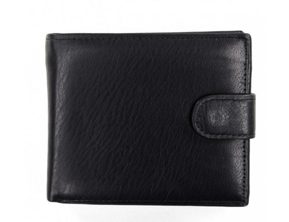 Кожаный портмоне Tiding Bag A7-638A чёрный - Фото № 2