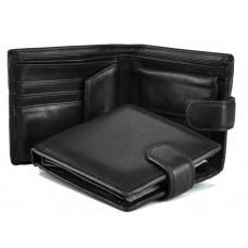 Шкіряний портмоне Tiding Bag A7-685A чорний