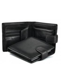 Кожаный портмоне Tiding Bag A7-685A чёрный