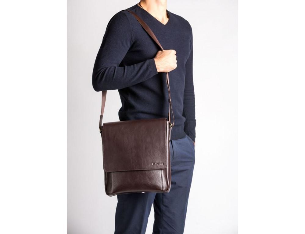 Мужская кожаная сумка-мессенджер Bn082C - Фото № 2