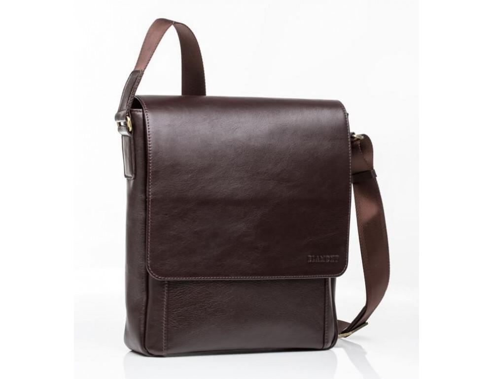 Мужская кожаная сумка-мессенджер Bn082C - Фото № 3
