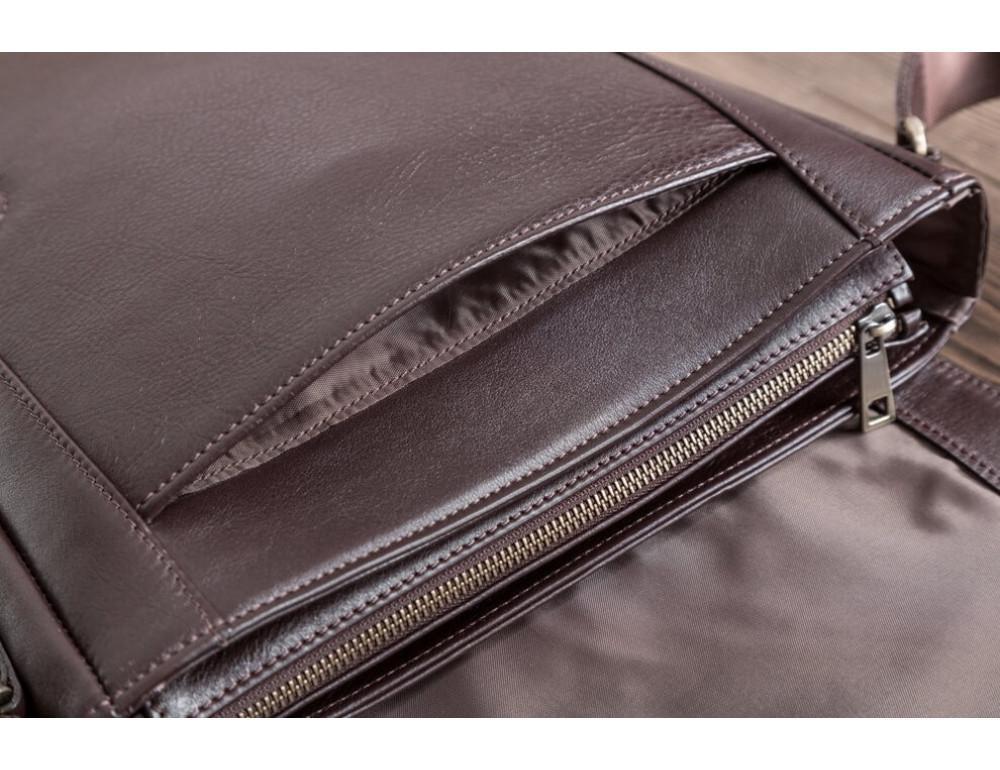 Мужская кожаная сумка-мессенджер Bn082C - Фото № 10