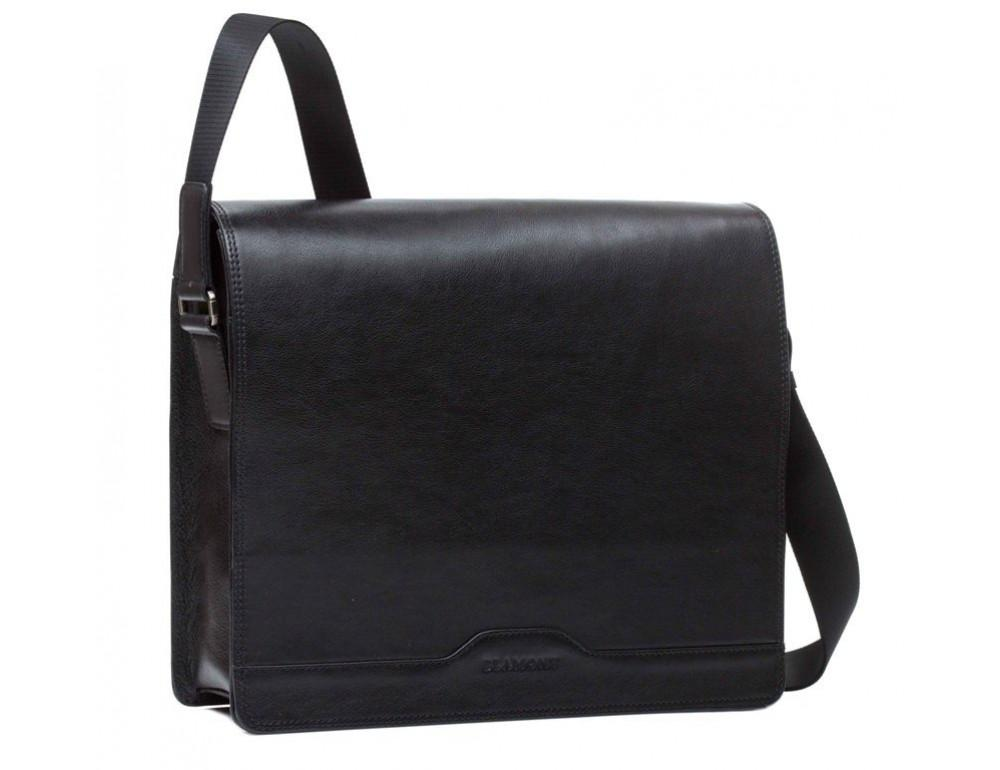 Мужская кожаная сумка-мессенджер Bn090A - Фото № 3