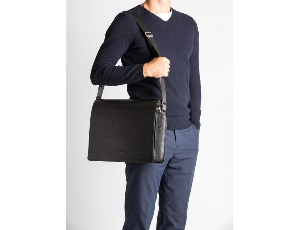 Мужская кожаная сумка-мессенджер Bn090A - Фото № 2