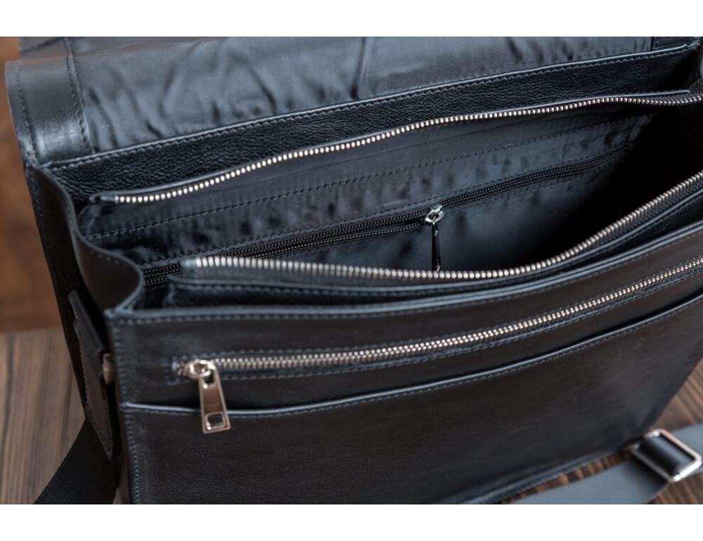 Мужская кожаная сумка-мессенджер Bn090A - Фото № 10