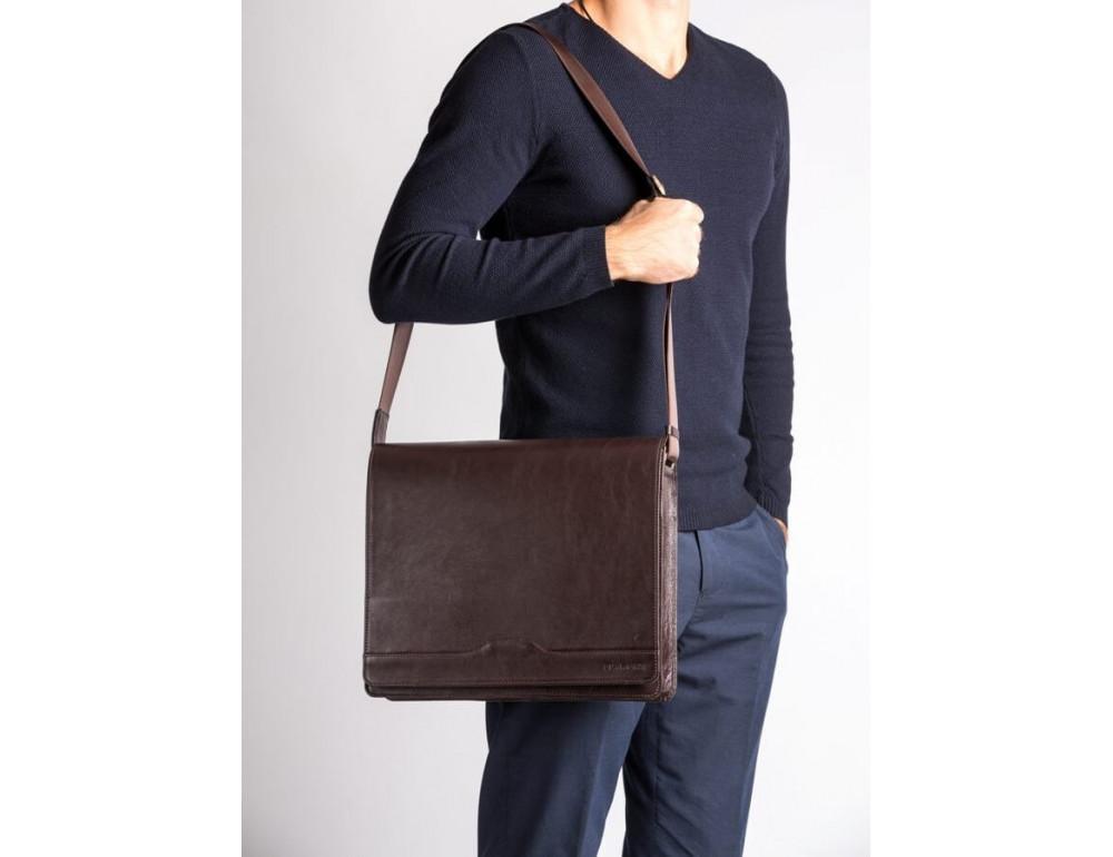Мужская кожаная сумка-мессенджер BN090C - Фото № 2