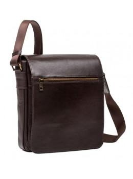 Мужской кожаный сумка-мессенджер Blamont Bn091C коричневая