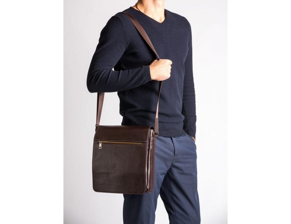 Чоловіча шкіряна сумка-месенджер Blamont Bn091C коричнева - Фотографія № 2