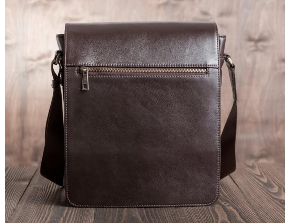 Чоловіча шкіряна сумка-месенджер Blamont Bn091C коричнева - Фотографія № 9
