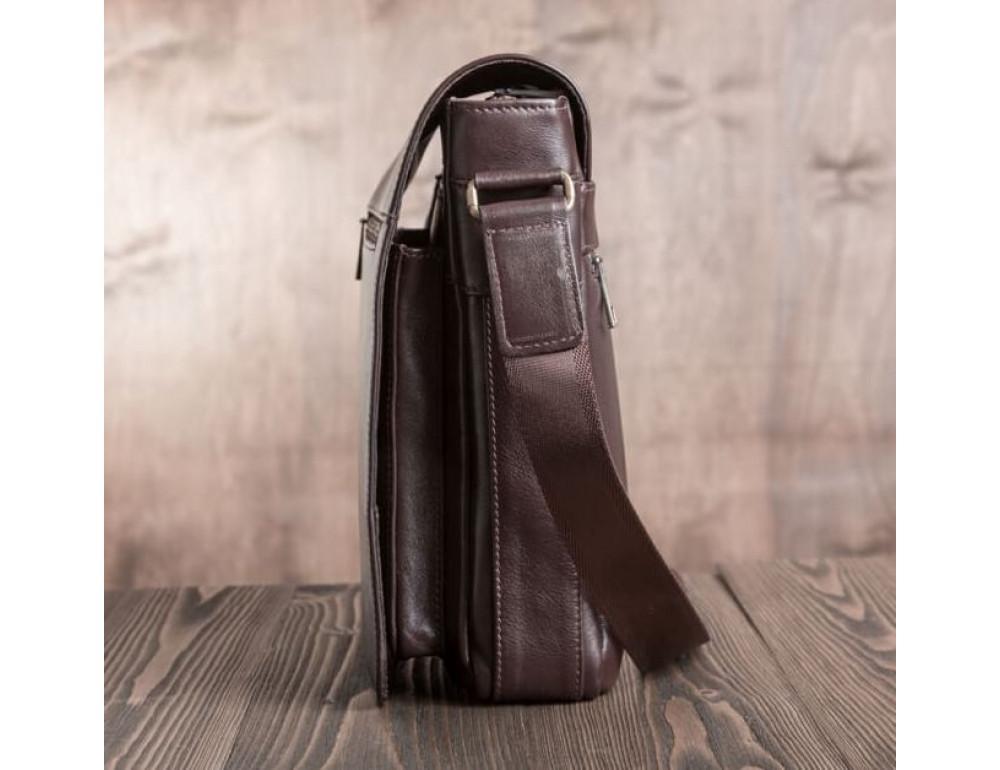 Чоловіча шкіряна сумка-месенджер Blamont Bn091C коричнева - Фотографія № 8